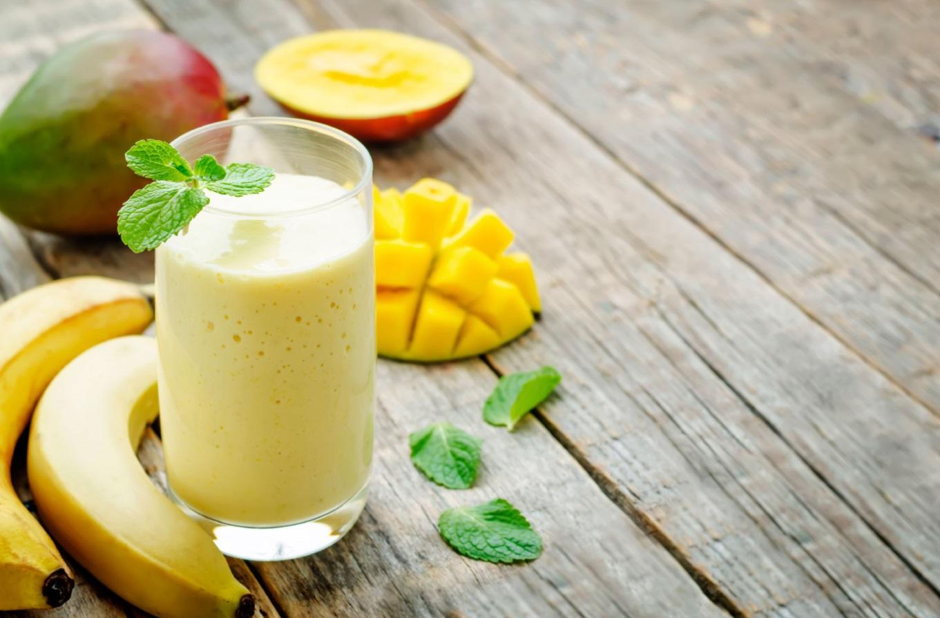 Milkshake mangue banane