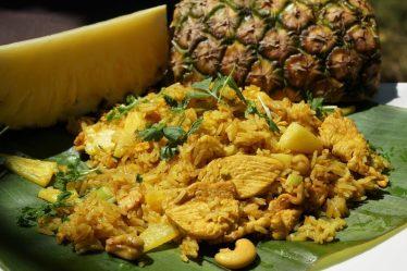 Riz poulet ananas
