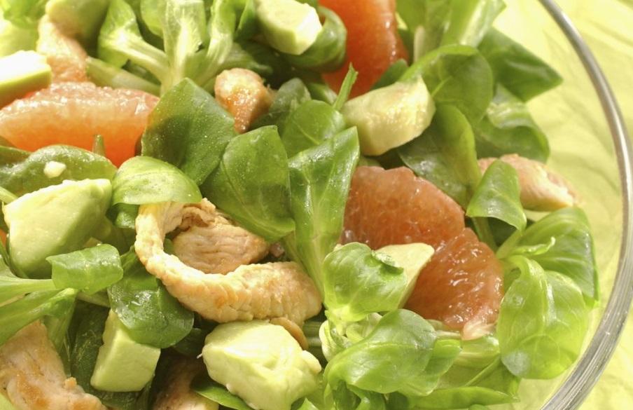 Salade poulet pamplemousse