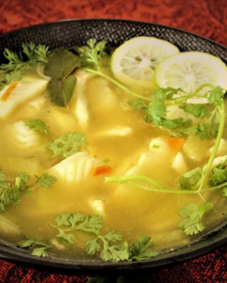 Soupe poisson citronnelle